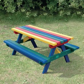 Junior Rainbow Picnic Bench
