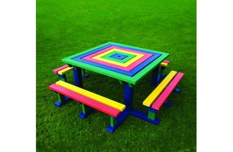 Junior Recycled Square Picnic Table