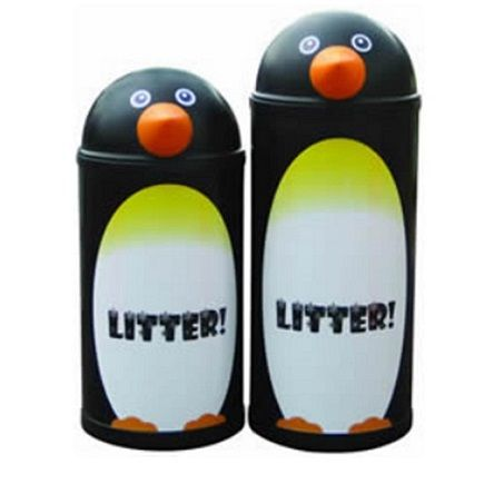 Penguin Themed Bin
