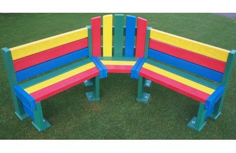 Rainbow Buddy Bench